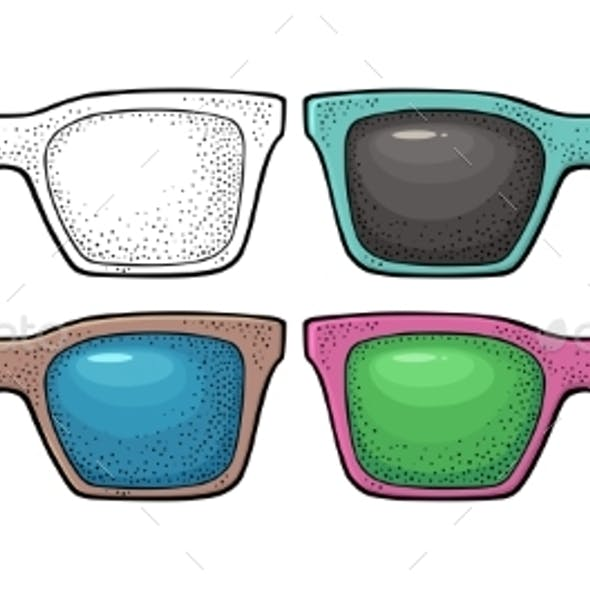 Collection of Different Color of Retro Sunglasses