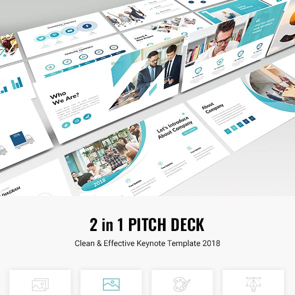 2 in 1 Business Pitch Deck Keynote Template