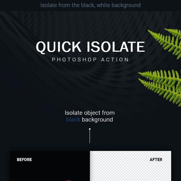 Quick Isolate Photoshop Action