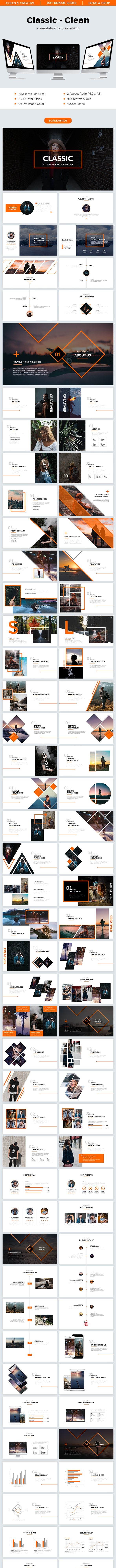 Classic - Clean Powerpoint Template 2018 - Creative PowerPoint Templates