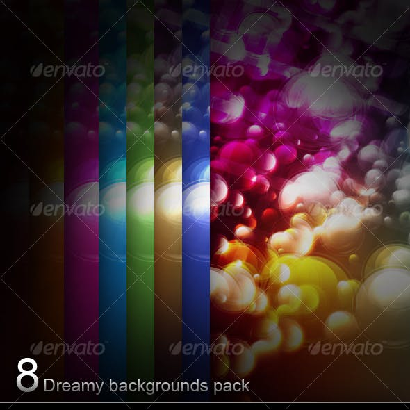 8 Dreamy backgrounds pack