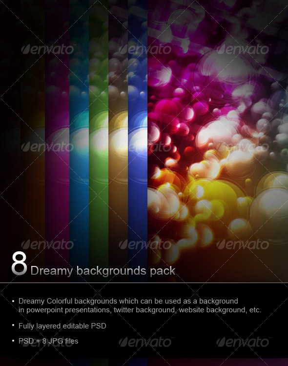 8 Dreamy backgrounds pack - Backgrounds Graphics