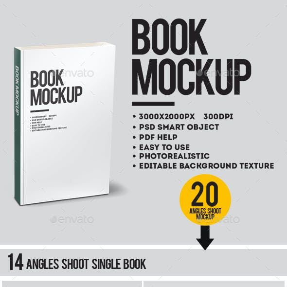 Book Mock up - 20 Angles Shoot
