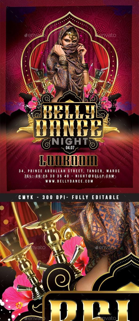 Oriental Belly Dance Night Flyer - Events Flyers