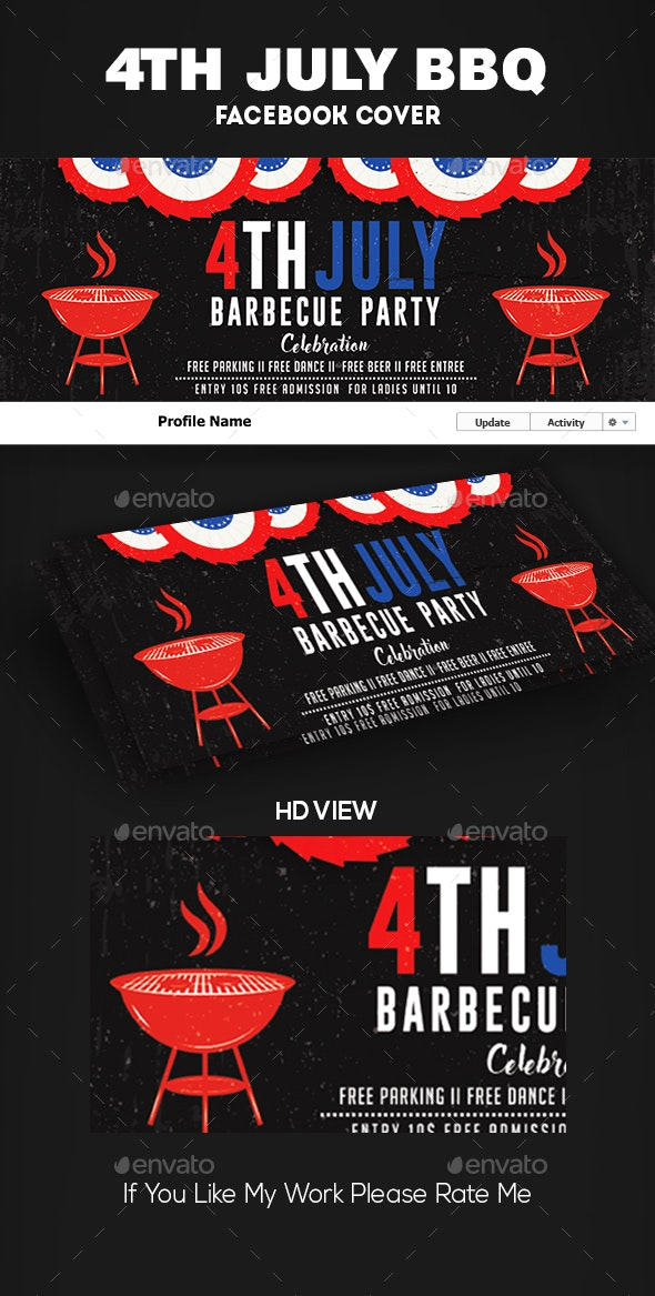 4th of July BBQ Facebook Covers - Facebook Timeline Covers Social Media