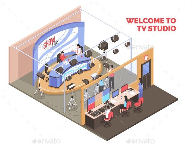 Tv Studio Illustration - Industries Business