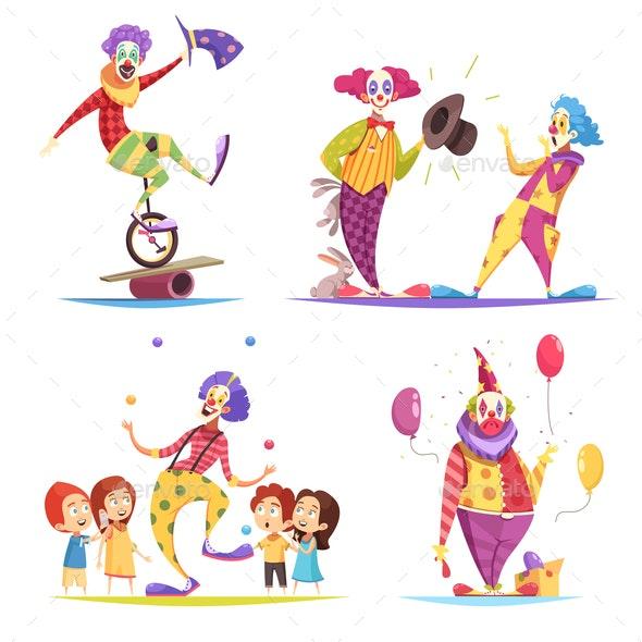 Clowns Design Concept - Miscellaneous Vectors