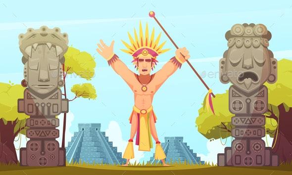 Maya Cartoon Illustration - People Characters