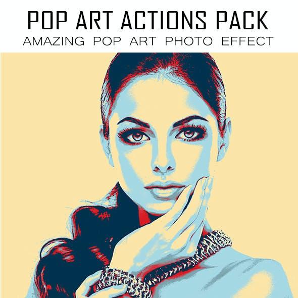 14 Pop Art  Photoshop Actions Pack