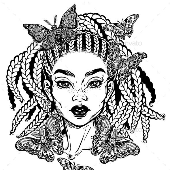 Hispanic Latin or African American Girl