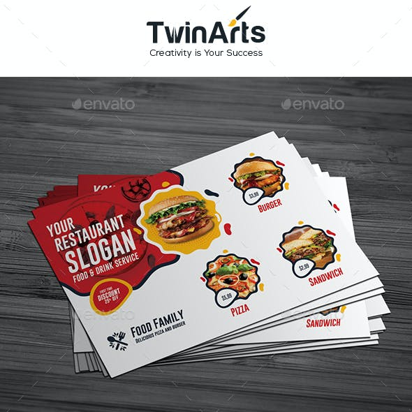 Restaurant Post Card Design