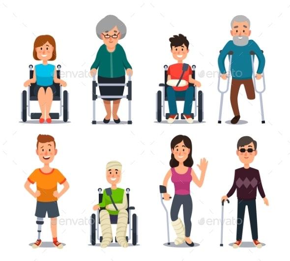 Disablement Person - Health/Medicine Conceptual