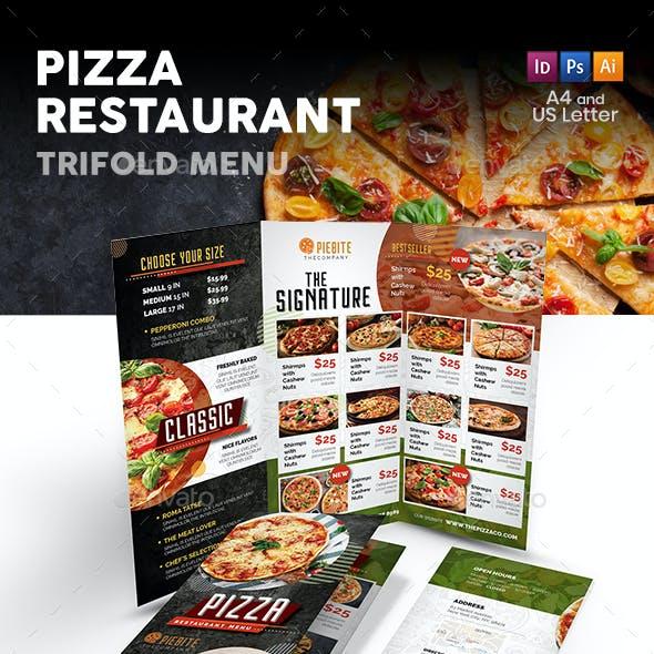 Pizza Restaurant Trifold Menu 3
