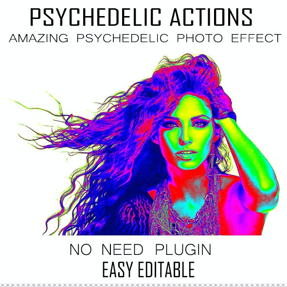 10 Psychedelic Photoshop Actions