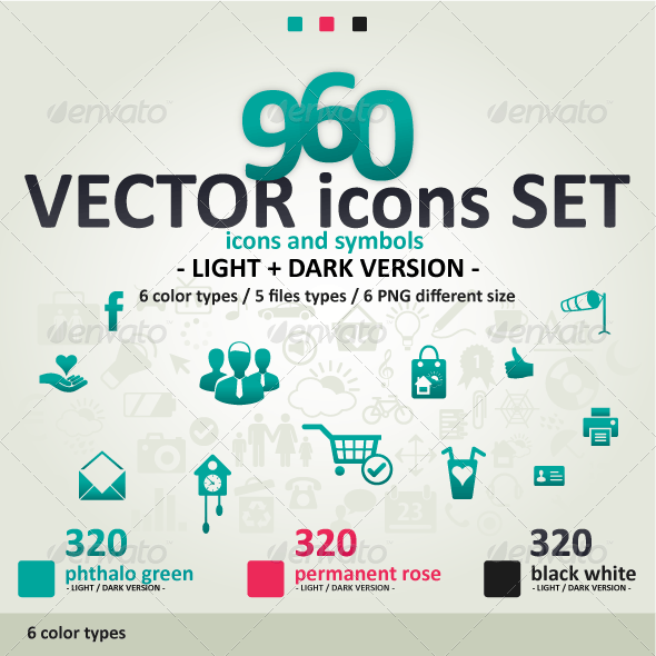 960 Vector Icons Set