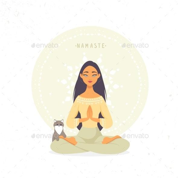 Girl Namaste - People Characters