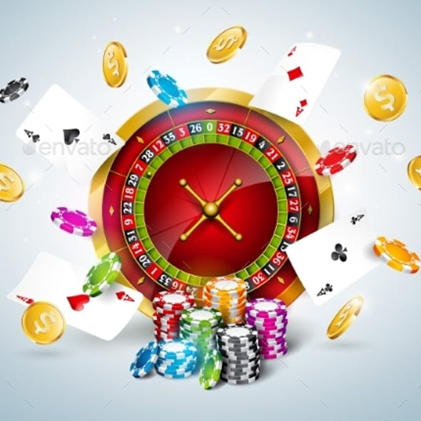 Vector Illustration on a Casino Theme