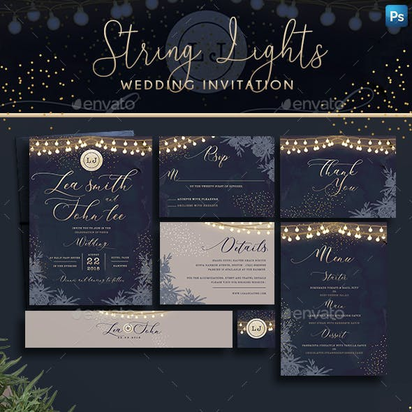 String Lights Invitation