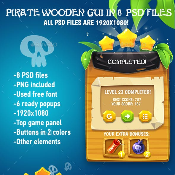 Wooden Pirate GUI Pack