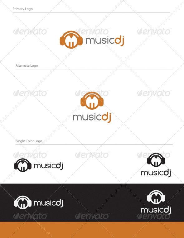 Music Dj Logo Design - LET-015 - Letters Logo Templates