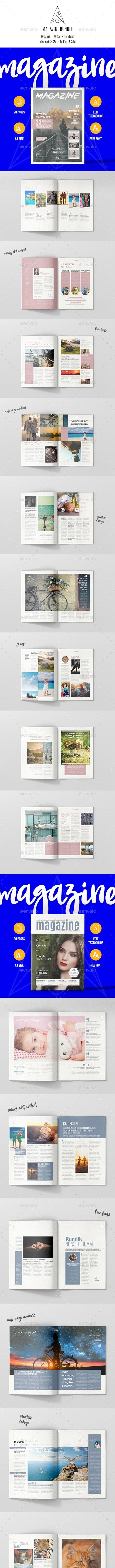 Magazine Bundle 60 Pages - Magazines Print Templates