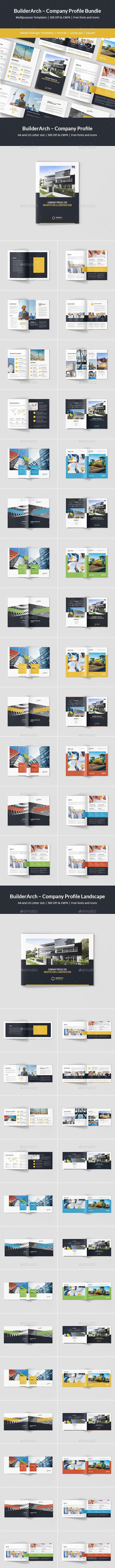 BuilderArch – Construction Company Profile Bundle 3 in 1 - Corporate Brochures