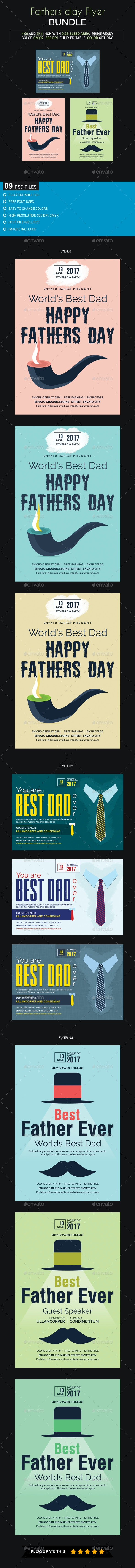 Father's Day Flyer Bundle - Events Flyers
