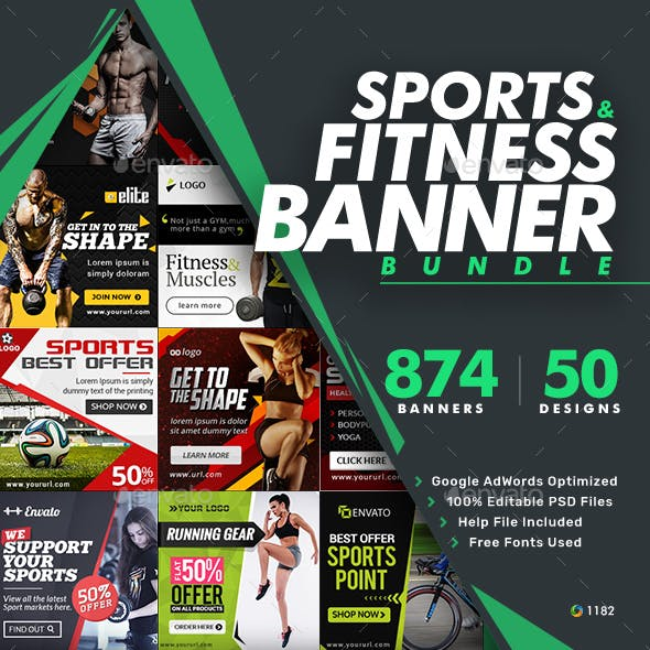 Sports Banners Bundle - 50 sets - 874 Banners - UPDATED!!!