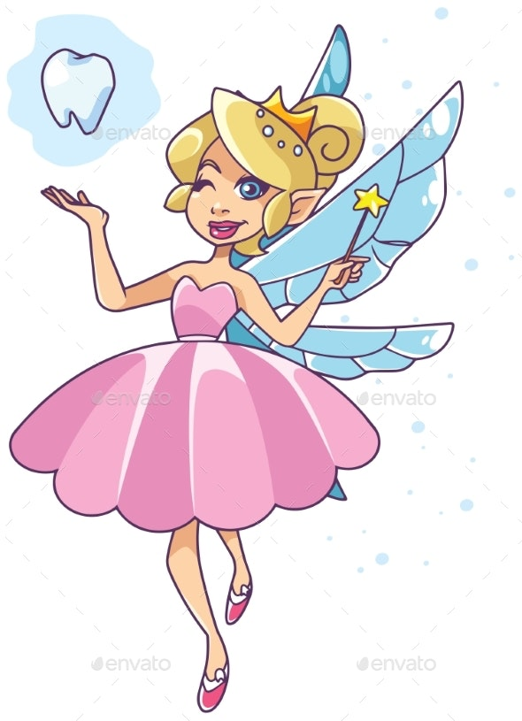 Tooth Fairy on White - Miscellaneous Characters