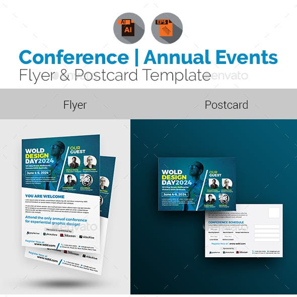 Conference Flyer with Postcard Bundle