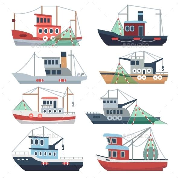 Fishing Ocean Boats - Man-made Objects Objects