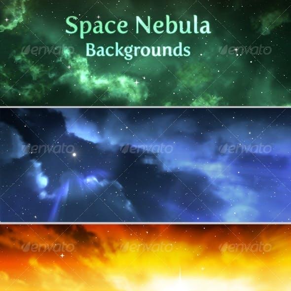 Space Nebula Background Pack