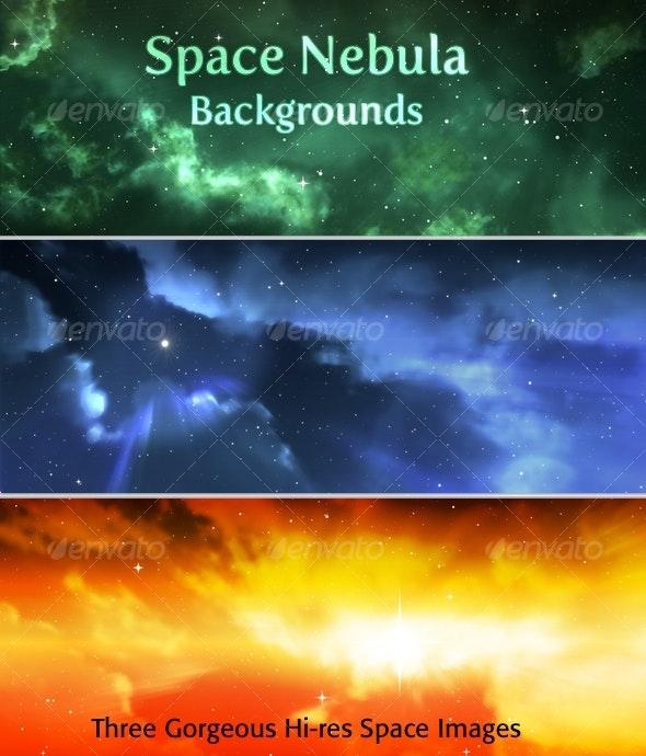 Space Nebula Background Pack - Tech / Futuristic Backgrounds