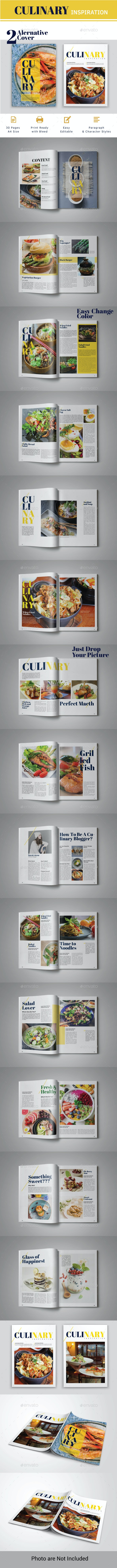 Culinary Inspiration Indesign Template - Magazines Print Templates