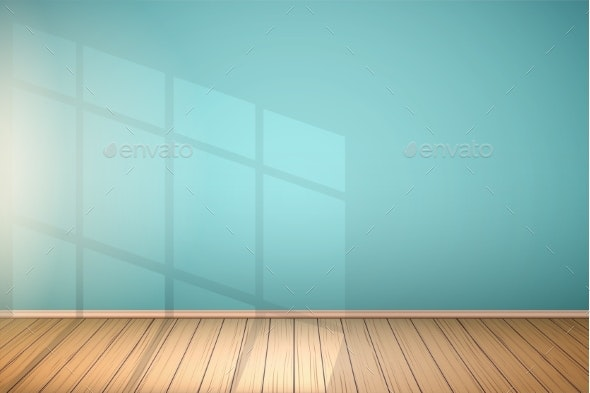 Example of Empty Room with Window - Backgrounds Decorative