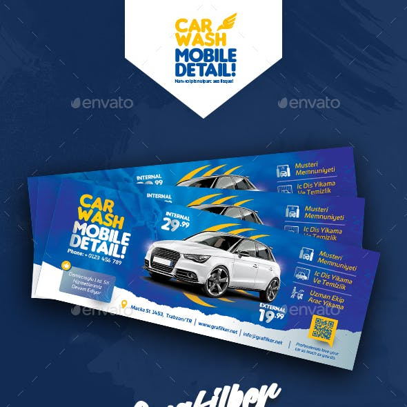 Car Wash Cover Templates