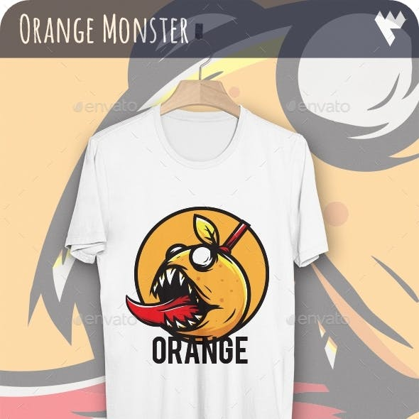 Orange Monster - T-Shirt Design