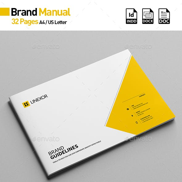 Brand Manual 32 Pages A4 / US Letter