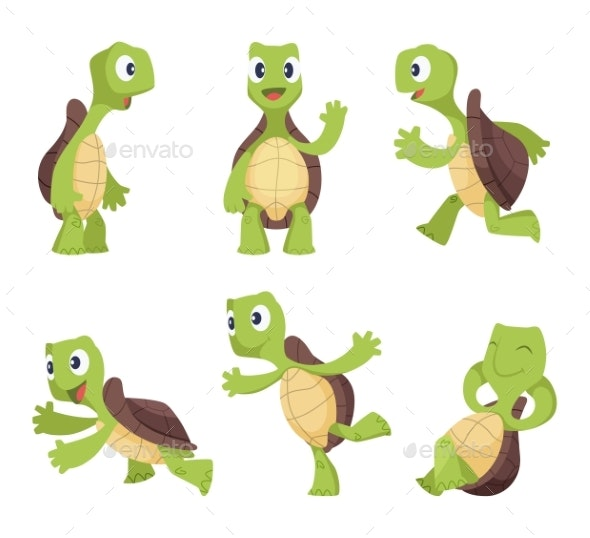 Cartoon Characters of Turtles - Animals Characters