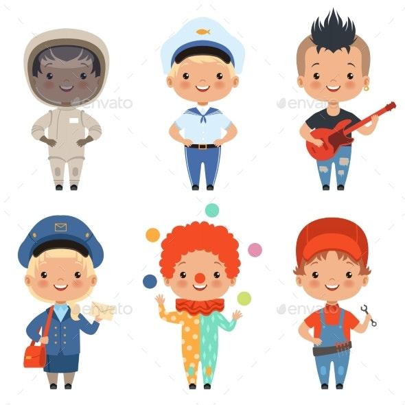 Cartoon Illustrations of Kids - People Characters