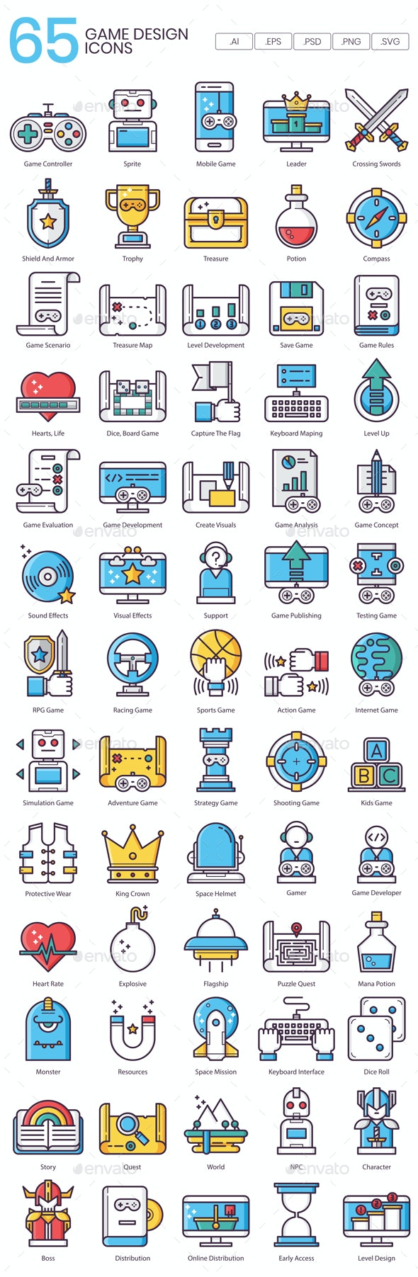 Game Design Icons - Icons