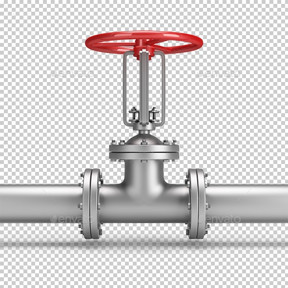 Pipe and Valve - Objects 3D Renders