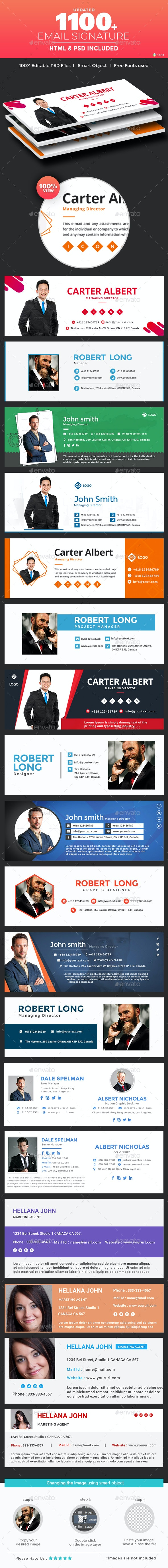 Email Signature Pack - 1100+ HTML and PSD Files - UPDATED!!! - Miscellaneous Social Media