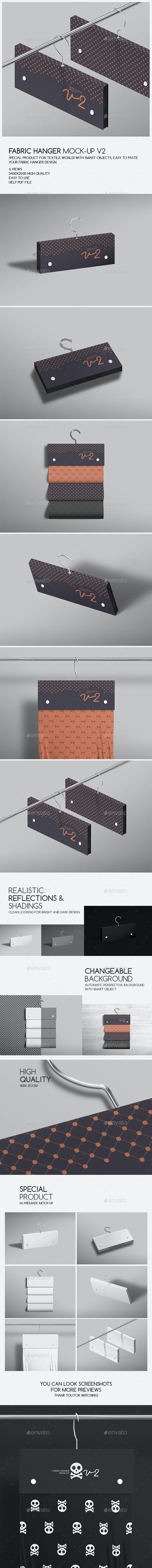 Fabric Hanger Mock-Up v2 - Product Mock-Ups Graphics
