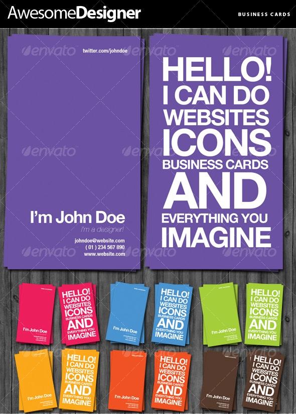 Designer Business Cards - Creative Business Cards