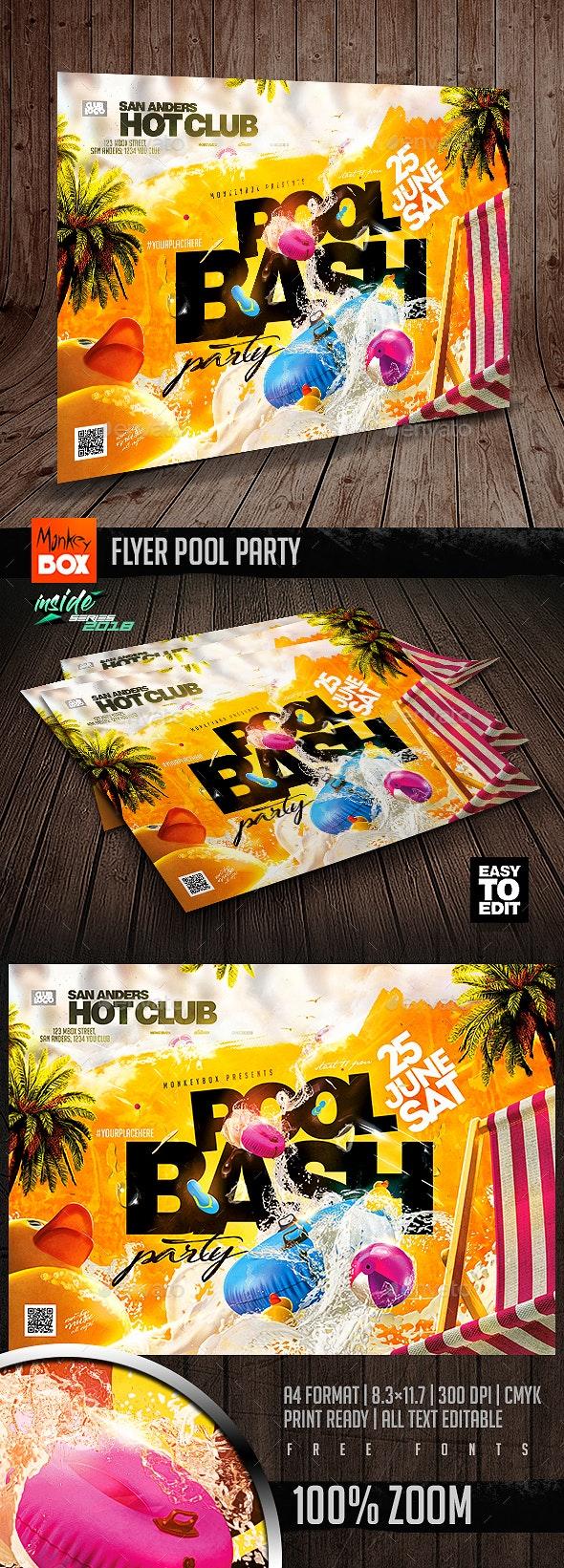 Flyer Pool Party - Flyers Print Templates