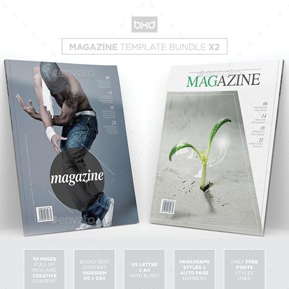 Magazine Template Bundle - InDesign Layout V7