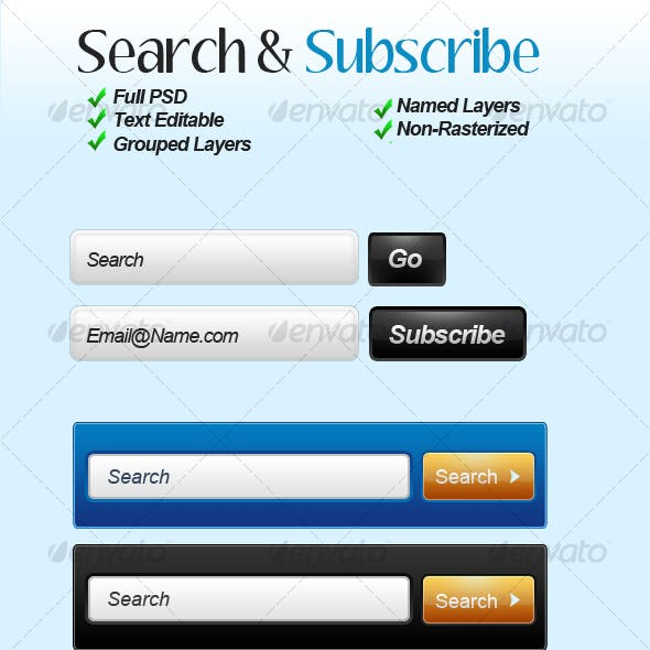 Search & Subscribe Forms