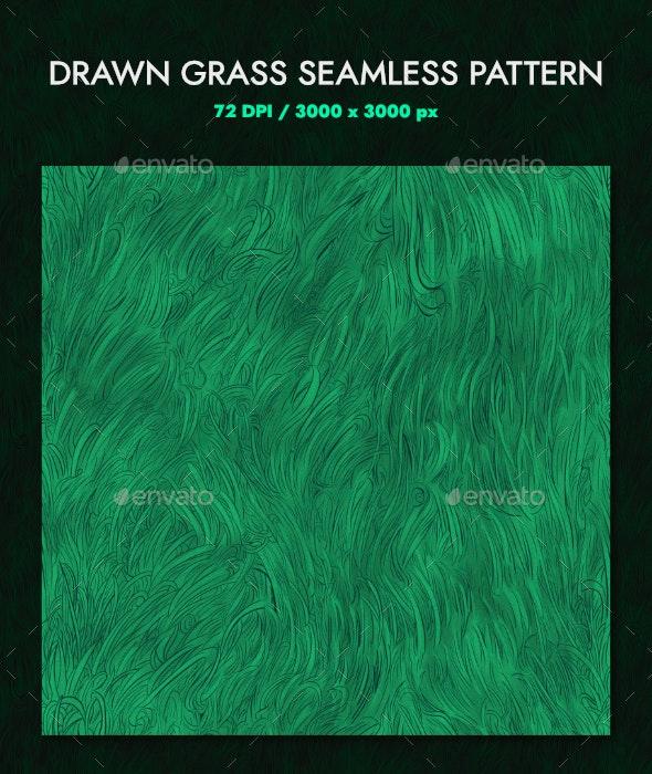 Drawn Grass Pattern Seamless - Patterns Decorative