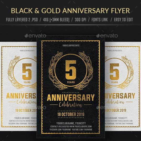 Black & Gold Anniversary Flyer